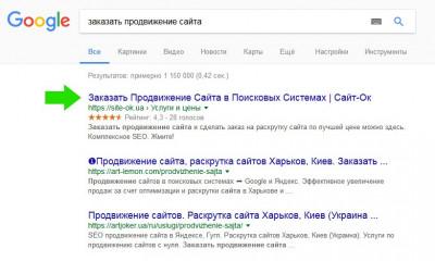 Сниппет в гугле